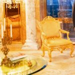 Donald Trump in his gold palace